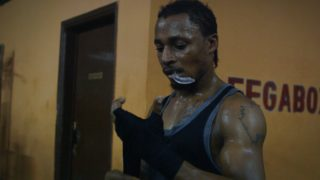 Film still of the film Boxing Libreville, directed by Amédée Pacôme Nkoulou, Visions du Réel 2019