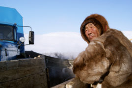 Film still of the film The Tundra Book. A Tale of Vukvukai, the Little Rock, directed by Aleksei Vakhrushev, Visions du Réel 2012